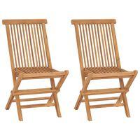 vidaXL Καρέκλες Κήπου Πτυσσόμενες 2 τεμ. από Μασίφ Ξύλο Teak