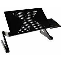 United Entertainment Τραπεζάκι/Βάση Laptop Μαύρο Πολλαπλών Λειτουργιών