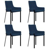 vidaXL Καρέκλες Τραπεζαρίας 4 τεμ. Μπλε Υφασμάτινες