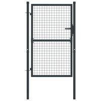 vidaXL Πόρτα Περίφραξης με Πλέγμα Γκρι 100 x 175 εκ. Γαλβαν. Χάλυβας