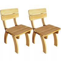 vidaXL Καρέκλες Κήπου 2 τεμ. από Εμποτισμένο Ξύλο Πεύκου