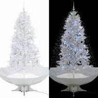 vidaXL Χριστουγεννιάτικο Δέντρο που Χιονίζει Λευκό 190 εκ. με Βάση