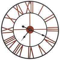 vidaXL Ρολόι Τοίχου Κόκκινο 58 εκ. Μεταλλικό