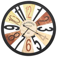 vidaXL Ρολόι Τοίχου Πολύχρωμο 60 εκ. Μεταλλικό