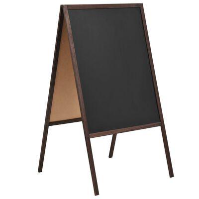 vidaXL Μαυροπίνακας Επιδαπέδιος Διπλής Όψης 60x80 εκ. από Ξύλο Κέδρου