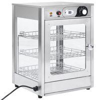 vidaXL Βιτρίνα Θερμαινόμενη Gastronorm Ηλεκτρική 600 W Ανοξ. Ατσάλι