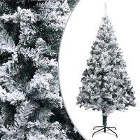 vidaXL Χριστουγεννιάτικο Δέντρο Τεχνητό Χιονισμένο Πράσινο 180 εκ. PVC