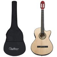 vidaXL Ακουστική Κιθάρα Western με 6 Χορδές/Ισοσταθμιστής Σετ 12 τεμ.