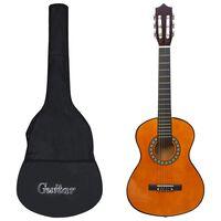 vidaXL Κλασική Κιθάρα Σετ 8 Τεμαχίων για Παιδιά & Αρχάριους 1/2 34''