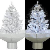 vidaXL Χριστουγεννιάτικο Δέντρο που Χιονίζει Λευκό 75 εκ. με Βάση