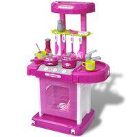 Κουζίνα Παιδική Παιχνίδι με Εφέ Φωτισμού/Ήχου Ροζ