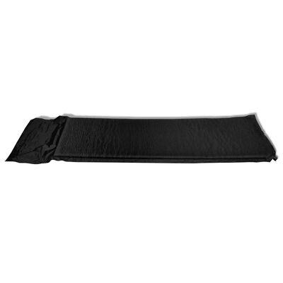 Φουσκωτό Στρώμα και Μαξιλάρι 6 x 66 x 200 cm Μαύρο