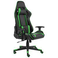 vidaXL Καρέκλα Gaming Περιστρεφόμενη Πράσινη από PVC
