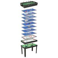 vidaXL Τραπέζι Πολλαπλών Παιχνιδιών 15 σε 1 Μαύρο 121 x 61 x 82 εκ.