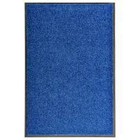 vidaXL Πατάκι Εισόδου Πλενόμενο Μπλε 60 x 90 εκ.