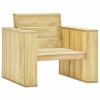 vidaXL Καρέκλα Κήπου 89 x 76 x 76 εκ. από Εμποτισμένο Ξύλο Πεύκου