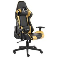 vidaXL Καρέκλα Gaming Περιστρεφόμενη Χρυσή PVC