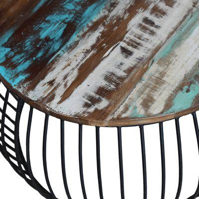 vidaXL Τραπεζάκι Σαλονιού Στρογγυλό 68 x 43 εκ. από Ανακυκλωμένο Ξύλο