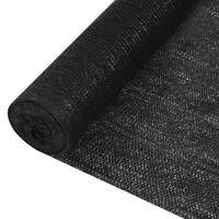vidaXL Δίχτυ Σκίασης Μαύρο 2 x 50 μ. από HDPE 150 γρ./μ²