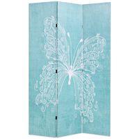 vidaXL Διαχωριστικό Δωματίου Πτυσσόμενο Πεταλούδα Μπλε 120 x 170 εκ.