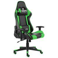 vidaXL Καρέκλα Gaming Περιστρεφόμενη Πράσινη PVC