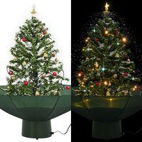 vidaXL Χριστουγεννιάτικο Δέντρο που Χιονίζει Πράσινο 75 εκ. με Βάση