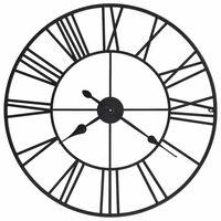 vidaXL Ρολόι Τοίχου Vintage XXL 80 εκ. Μεταλλικό με Μηχανισμό Quartz