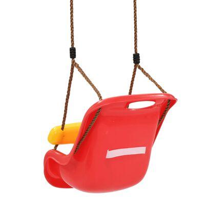 vidaXL Κούνιες Παιδικές 2 τεμ. Ζώνη Ασφαλείας Κόκκινες Πολυπροπυλένιο