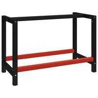 vidaXL Σκελετός Πάγκου Εργασίας Μαύρο/Κόκκινο 120x57x79 εκ. Μεταλλικός