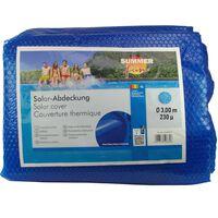 Summer Fun Κάλυμμα Πισίνας Καλοκαιρινό Ηλιακό Στρογγυλό Μπλε 300 εκ PE