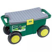 Draper Tools Εργαλειοθήκη με Κάθισμα Πράσινη 56x27,2x30,4 εκ. 60852