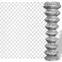 vidaXL Συρματόπλεγμα Περίφραξης Ασημί 15 x 0,8 μ. Γαλβανισμένο Ατσάλι