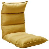 vidaXL Καρέκλα Δαπέδου Πτυσσόμενη Κίτρινο Μουσταρδί Υφασμάτινη