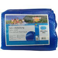 Summer Fun Κάλυμμα Πισίνας Καλοκαιρινό Ηλιακό Οβάλ Μπλε 600x320 εκ. PE