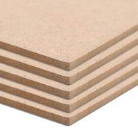 vidaXL Φύλλα MDF 8 τεμ. Τετράγωνα 60 x 60 εκ. 12 χιλ.