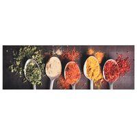 vidaXL Πατάκι Κουζίνας Σχέδιο Κουτάλια Πλενόμενο 45 x 150 εκ.