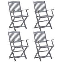 vidaXL Καρέκλες Κήπου Πτυσσόμενες 4 τεμ. από Μασίφ Ξύλο Ακακίας