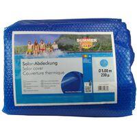 Summer Fun Κάλυμμα Πισίνας Καλοκαιρινό Ηλιακό Στρογγυλό Μπλε 500 εκ PE