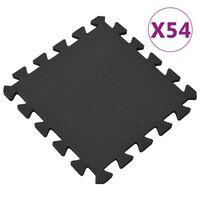 vidaXL Δάπεδα Προστασίας 54 τεμ. Μαύρα 4,86 μ² από Αφρώδες Υλικό EVA