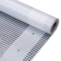vidaXL Μουσαμάς με Ύφανση Leno Λευκός 4 x 3 μ. 260 γρ./μ²