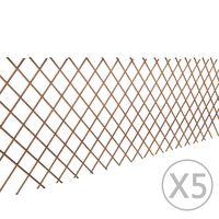 vidaXL Καφασωτό Φράχτης 5 τεμ. 180 x 90 εκ. από Ιτιά