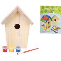 Esschert Design Φωλιά Πουλιών DIY KG145 14,8 x 11,7 x 20 εκ. με Μπογιές