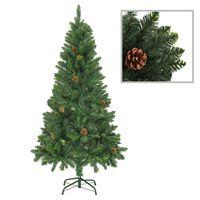 vidaXL Χριστουγεννιάτικο Δέντρο Τεχνητό Πράσινο 150 εκ. με Κουκουνάρια
