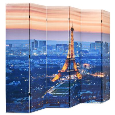 vidaXL Διαχωριστικό Δωματίου Πτυσσόμενο Νύχτα στο Παρίσι 228 x 170 εκ.