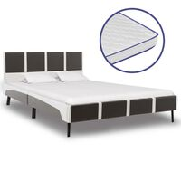 vidaXL Κρεβάτι 140 x 200 εκ. από Δερματίνη με Στρώμα Αφρού Μνήμης
