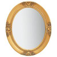 vidaXL Καθρέφτης Τοίχου με Μπαρόκ Στιλ Χρυσός 50 x 60 εκ.