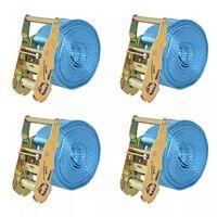 vidaXL Ιμάντες Πρόσδεσης με Καστάνια 4 τεμ. Μπλε 2 Τόνων 6 μ.x 38χιλ.