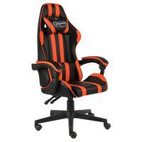 vidaXL Καρέκλα Racing Μαύρο / Πορτοκαλί από Συνθετικό Δέρμα