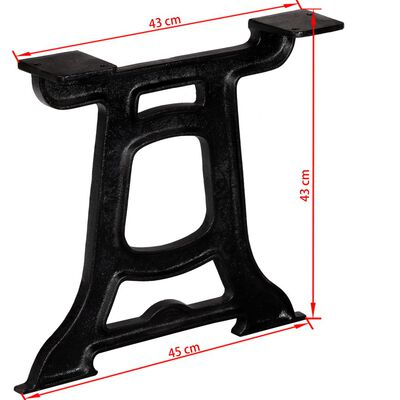 vidaXL Πόδια Τραπεζιού Σαλονιού 2 τεμ. σε Σχήμα «Y» από Χυτοσίδηρο