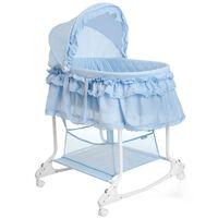 Little World Καλαθούνα Μωρού 2 σε 1 Μπλε 85 x 70 x 110 εκ. LWFU002-LBL